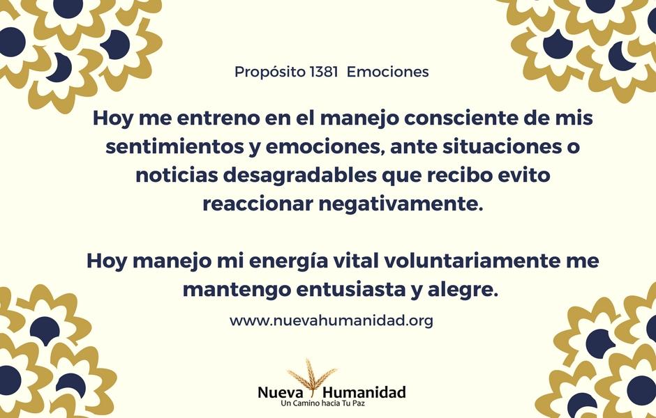 Propósito 1381 Emociones