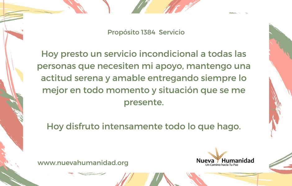 Propósito 1384 Servicio