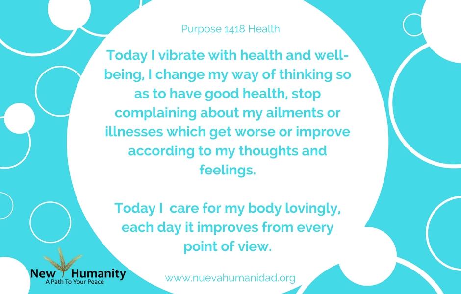 Nueva Humanidad Purpose 1418 Health