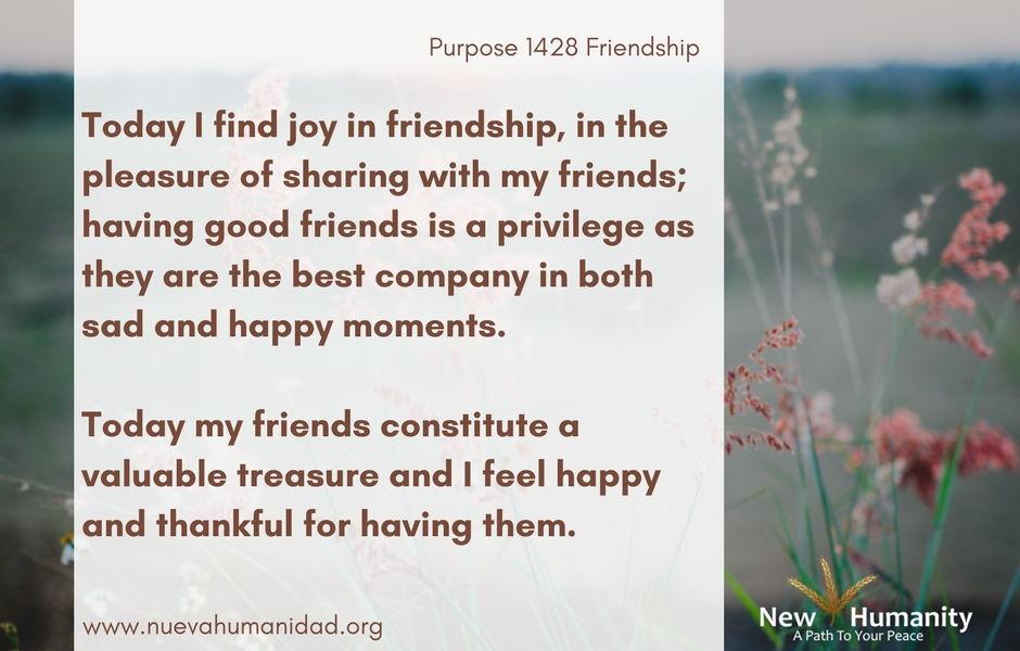Nueva Humanidad Purpose 1428 Friendship