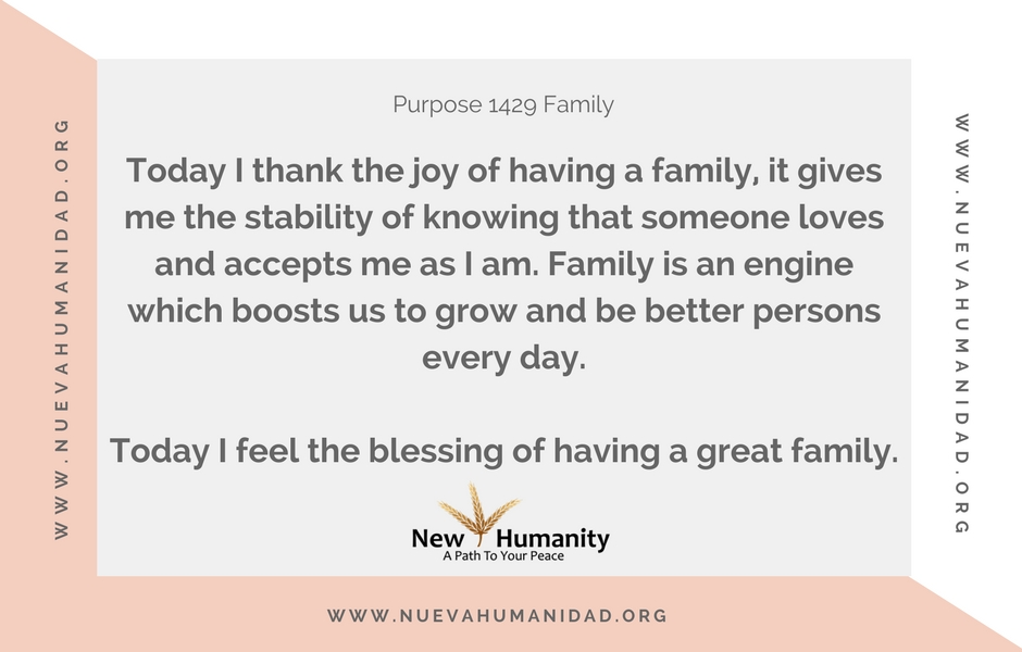 Nueva Humanidad Purpose 1429 Family
