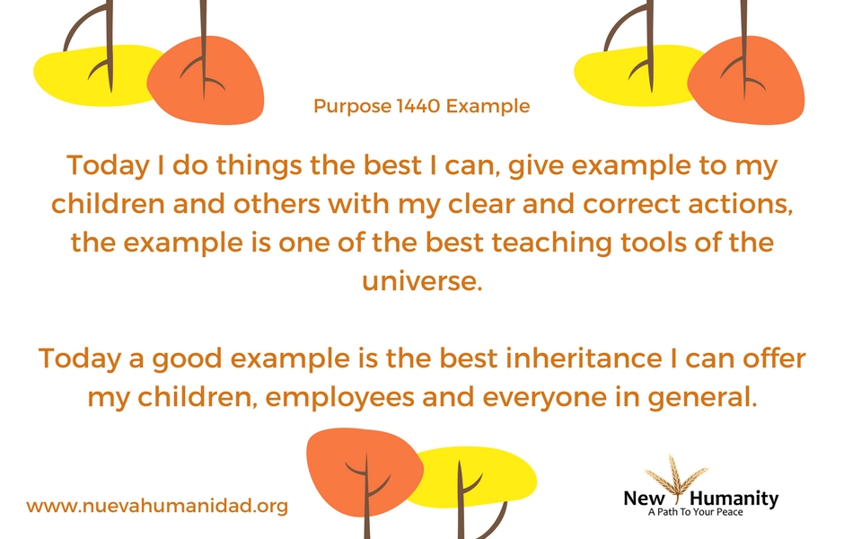 Nueva Humanidad Purpose 1440 Example