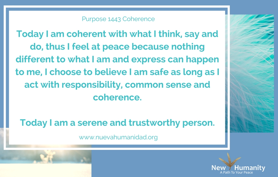 Nueva Humanidad Purpose 1443 Coherence
