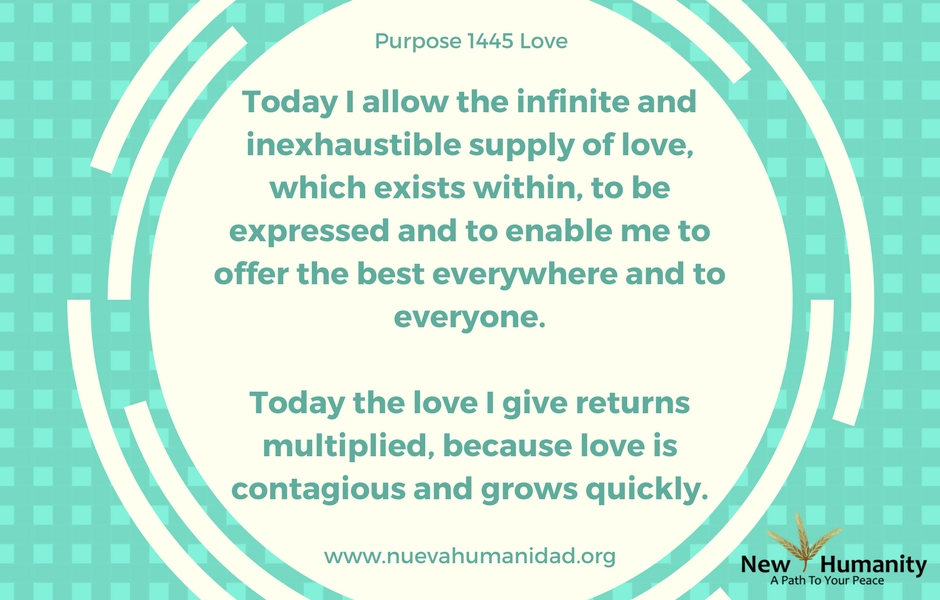 Nueva Humanidad Purpose 1445 Love