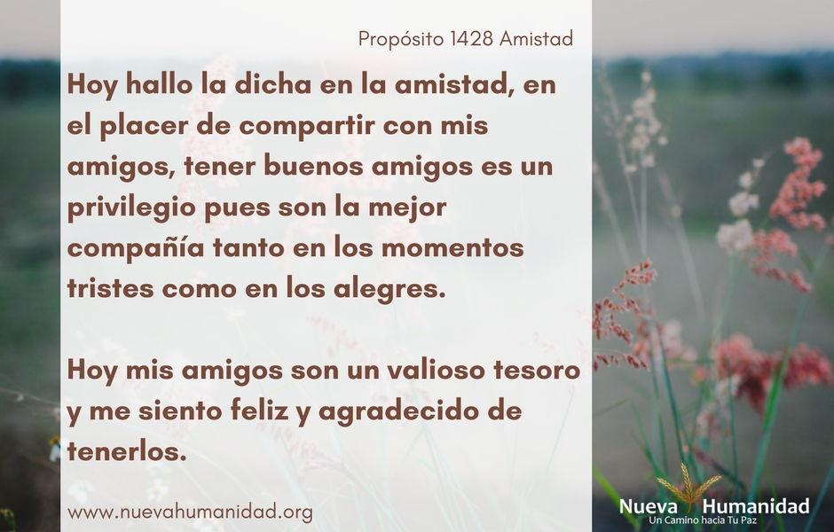 Propósito 1428 Amistad