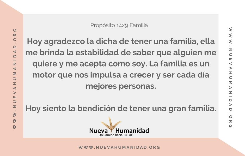 Propósito 1429 Familia