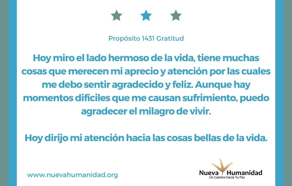 Propósito 1431 Gratitud