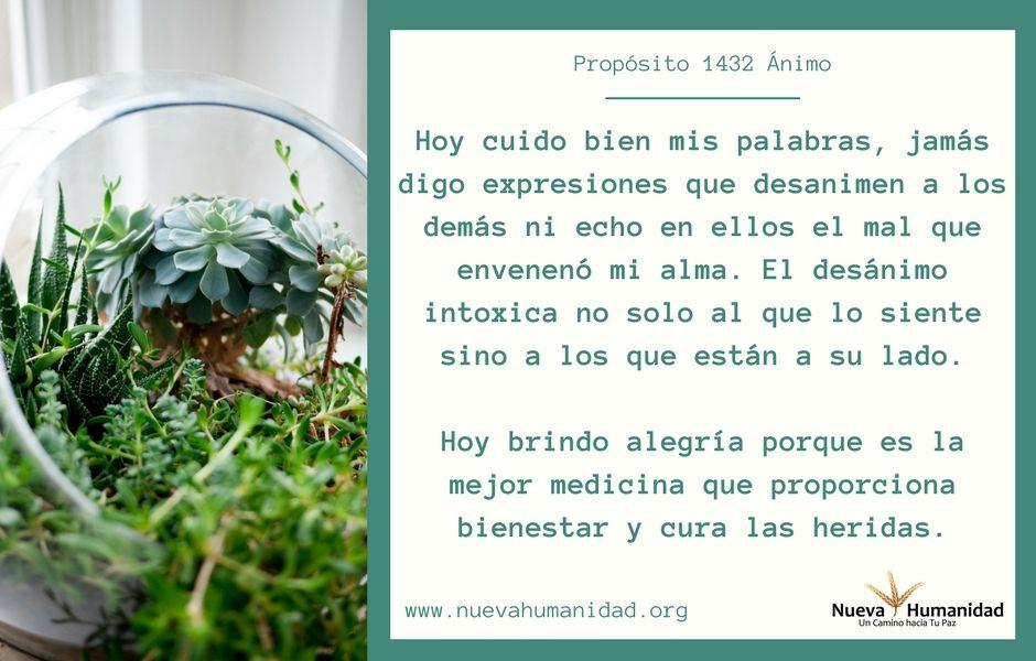Propósito 1432 Ánimo