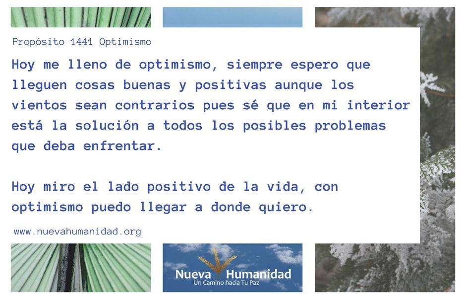 Propósito 1441 Optimismo