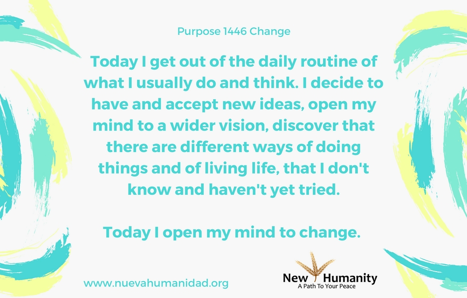 Nueva Humanidad Purpose 1446 Change