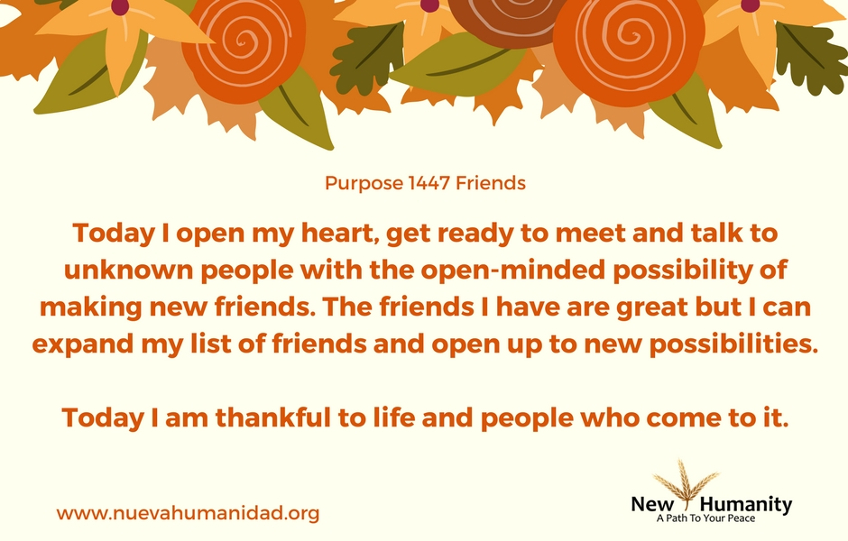 Nueva Humanidad Purpose 1447 Friends