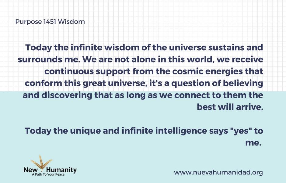 Nueva Humanidad Purpose 1451 Wisdom