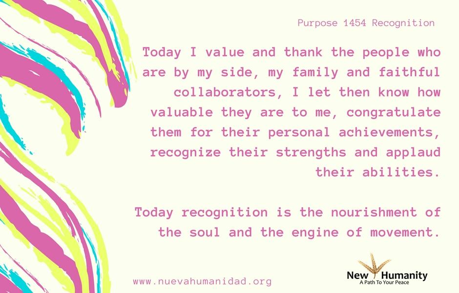 Nueva Humanidad Purpose 1454 Recognition