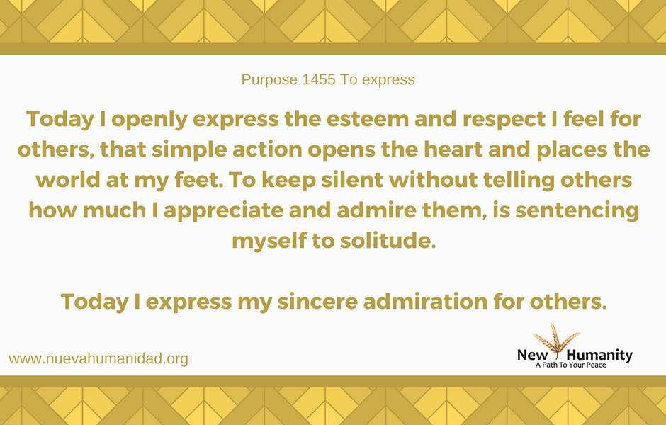 Nueva Humanidad Purpose 1455 To Express