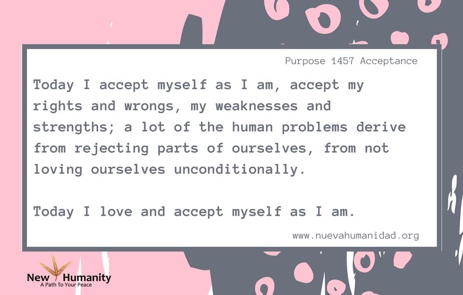 Nueva Humanidad Purpose 1457 Acceptance