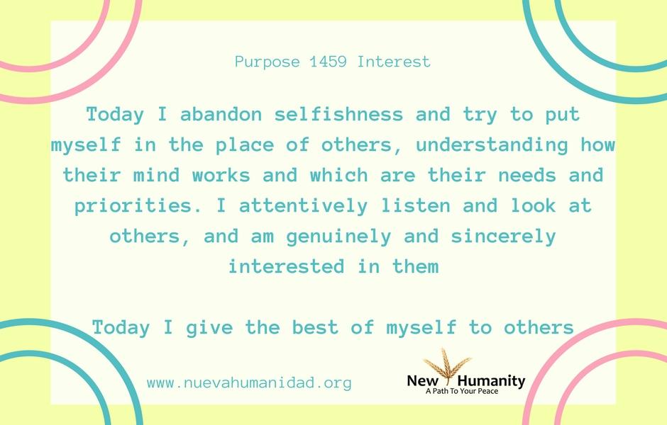 Nueva Humanidad Purpose 1459 Interest