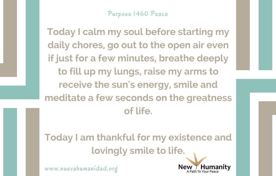 Nueva Humanidad Purpose 1460 Peace