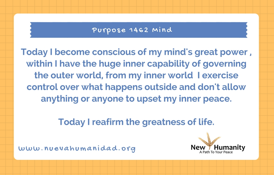 Nueva Humanidad Purpose 1462 Mind