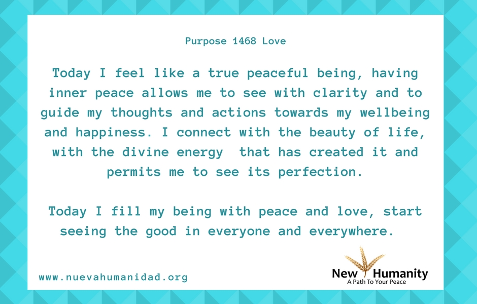 Nueva Humanidad Purpose 1468 Love