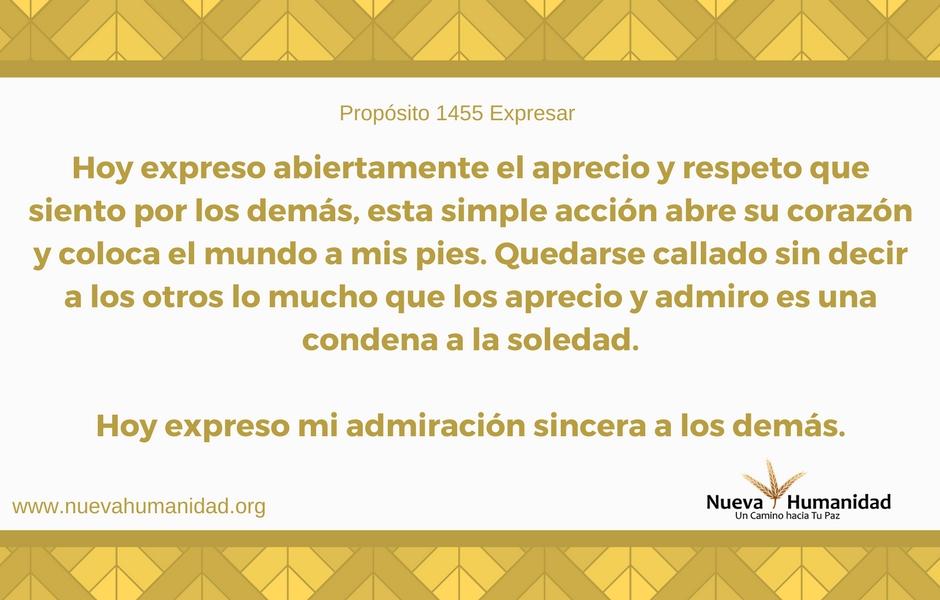 Propósito 1455 Expresar