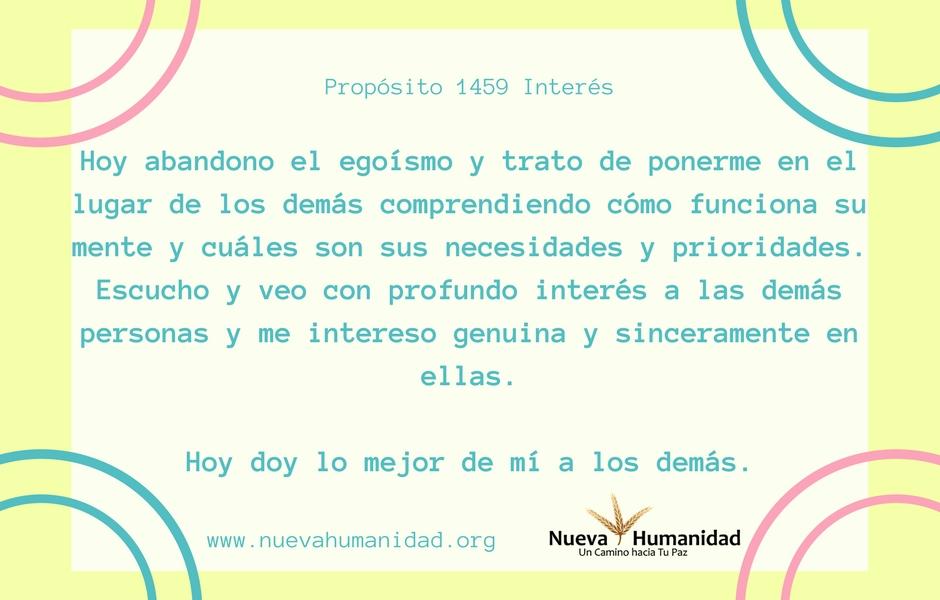 Propósito 1459 Interés