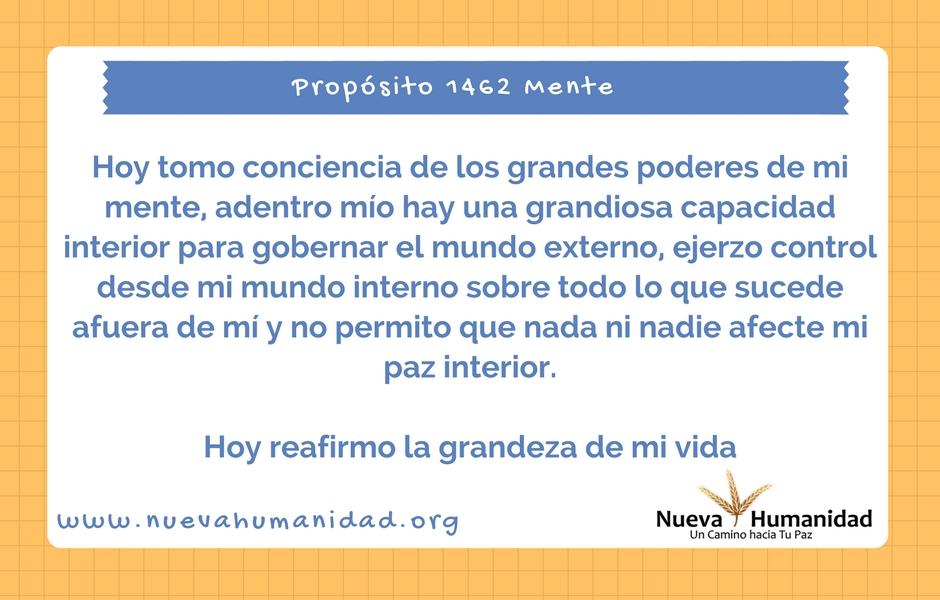 Propósito 1462 Mente