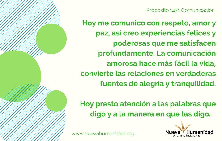 Propósito 1471 Comunicación