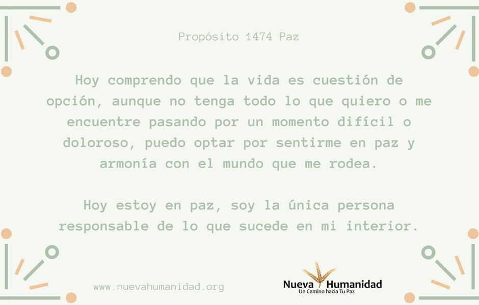 Propósito 1474 Paz