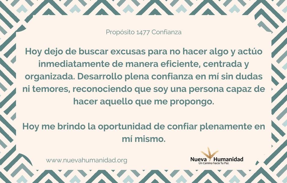 Propósito 1477 Confianza