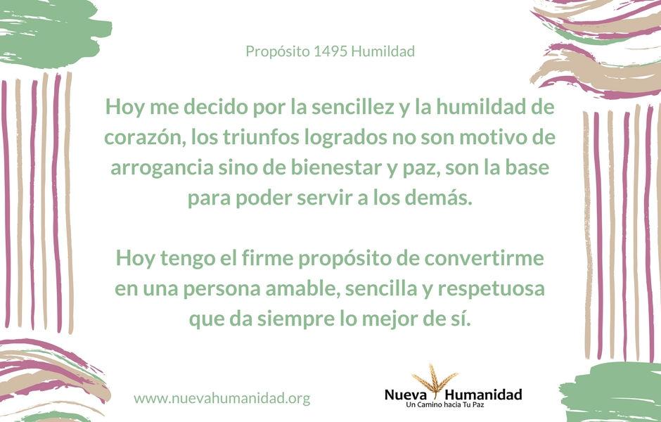 Propósito 1495 Humildad