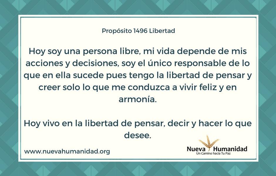 Propósito 1496 Libertad