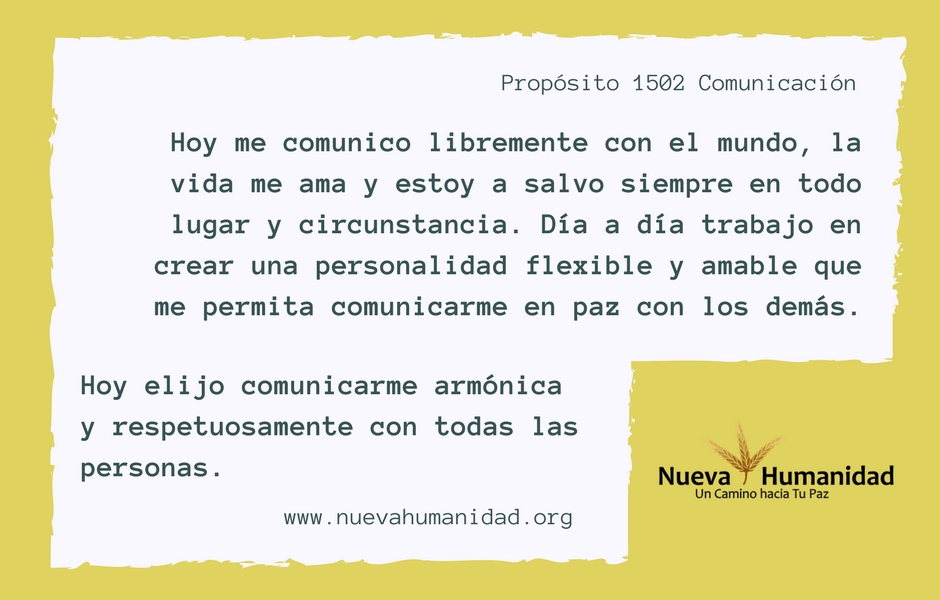 Propósito 1502 Comunicación