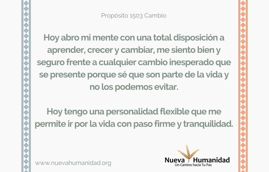 Propósito 1503 Cambio