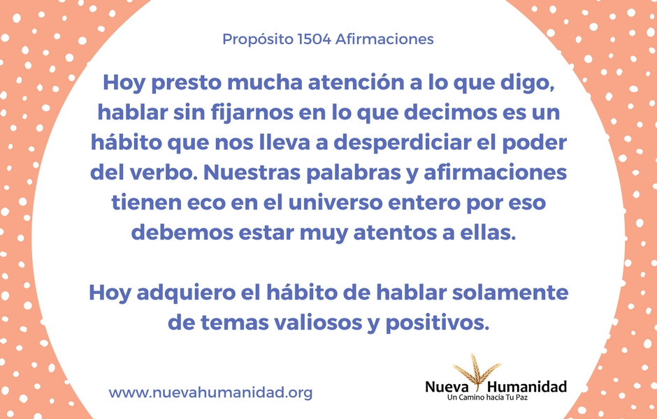 Propósito 1504 Afirmaciones