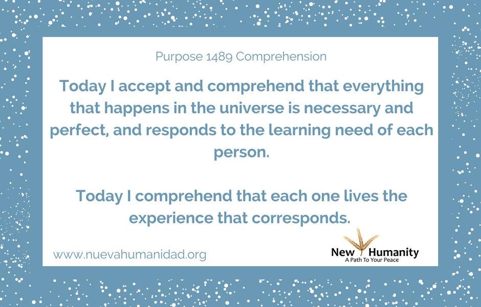 Purpose 1489 Comprehension