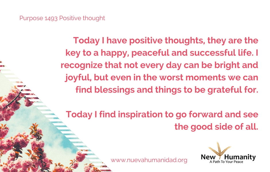 Purpose 1493 Positive thought