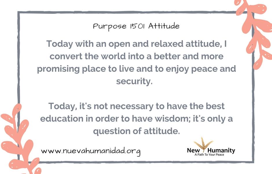 Purpose 1501 Attitude
