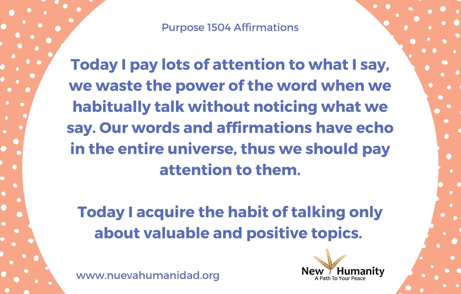 Purpose 1504 Affirmations