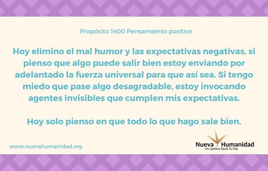 Propósito 1400 Pensamiento positivo