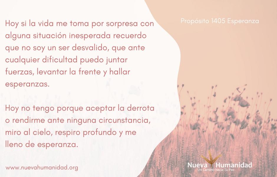Propósito 1405 Esperanza