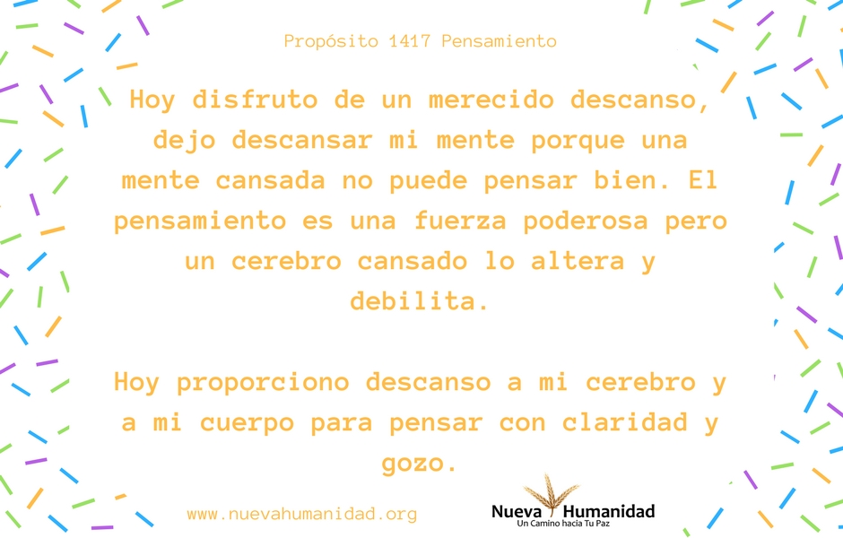 Propósito 1417 Pensamiento