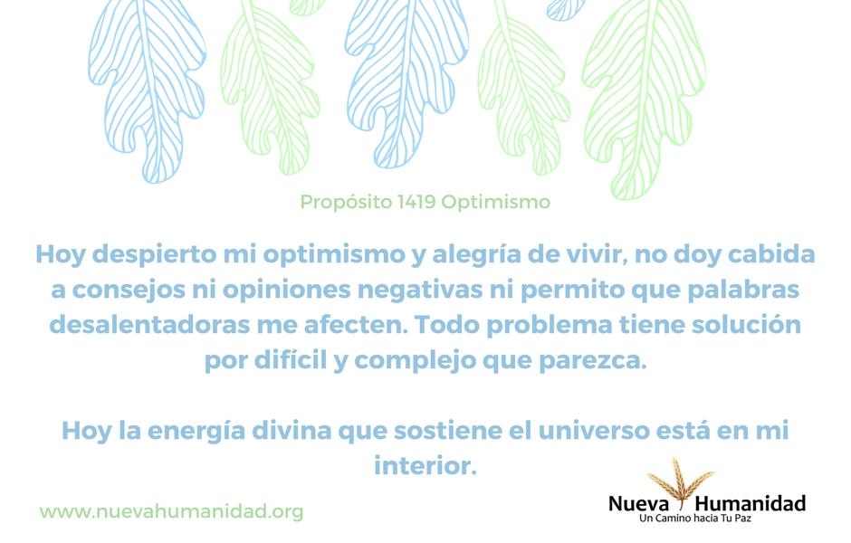 Propósito 1419 Optimismo