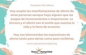 Propósito 1513 Afecto