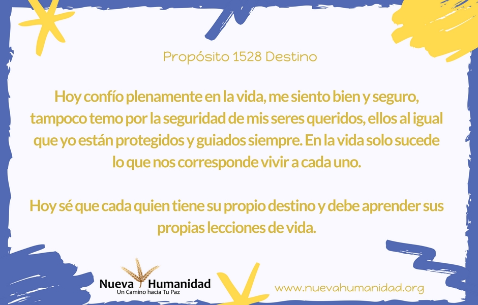 Propósito 1528 Destino