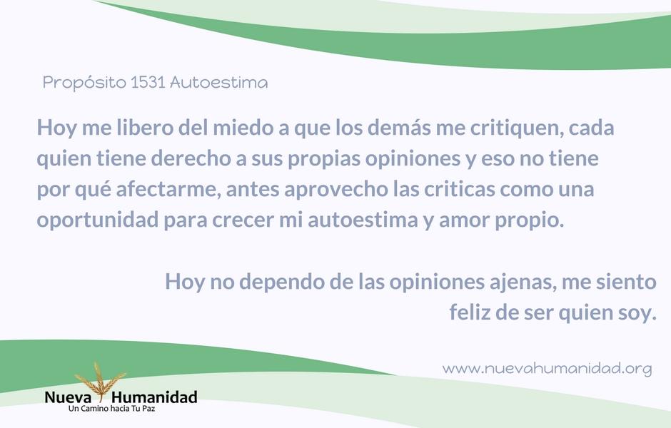 Propósito 1531 Autoestima