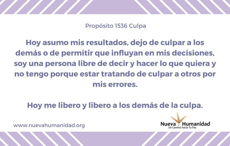 Propósito 1536 Culpa