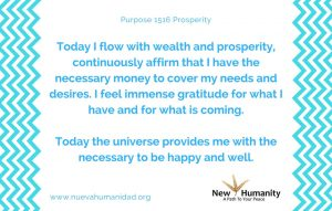 Purpose 1516 Prosperity