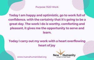 Purpose 1520 Work