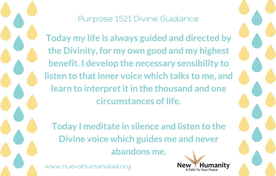 Purpose 1521 Divine Guidance