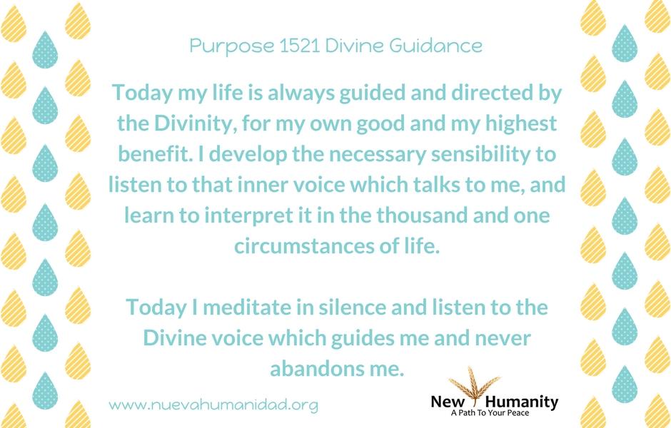 Purpose 1521 Divine Guidance